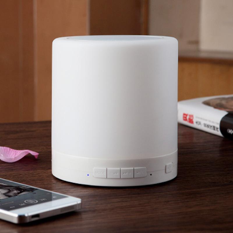 大号创意无线蓝牙音箱小夜灯 蓝牙连接 USB 内置锂电池