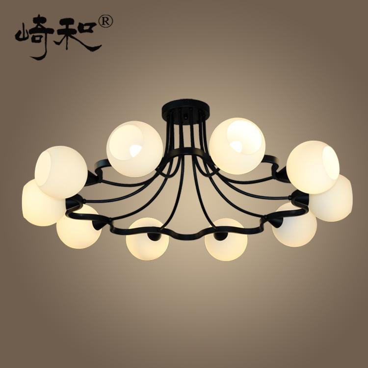 欧式怀旧创意大客厅餐厅卧室梅花灯具 美式乡村欧式