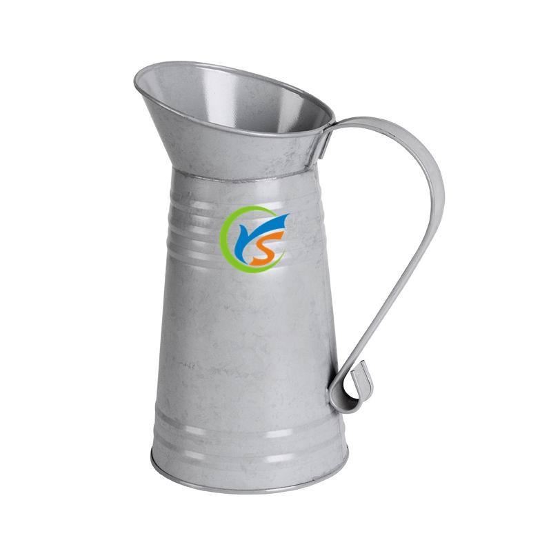 铁质花盆容器 镀锌铁 牢固耐用,不易变形,耐腐蚀 桌面式