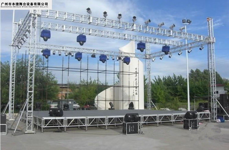 商场活动铝合金舞台桁架 铝合金 舞台桁架 可定制 气泡膜包装