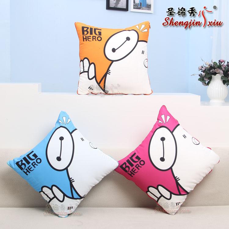 厂家零售定制多性能空调抱枕 圣锦秀 靠垫被 桃皮绒 PP棉