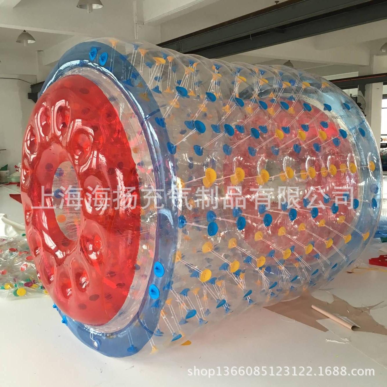 水上滚筒 充气滚筒球上海水上玩具PVC滚筒步行器2.4米2.6米滚筒球