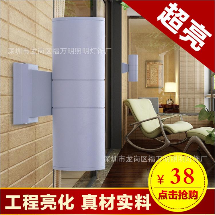 户外LED单双头壁灯上下照耀防水灯酒店墙壁投射灯6W9W室外壁灯