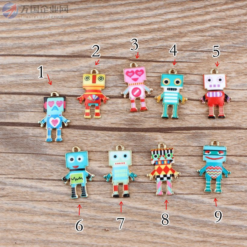 滴油印刷图案合金挂件手链发饰配件印刷机器人