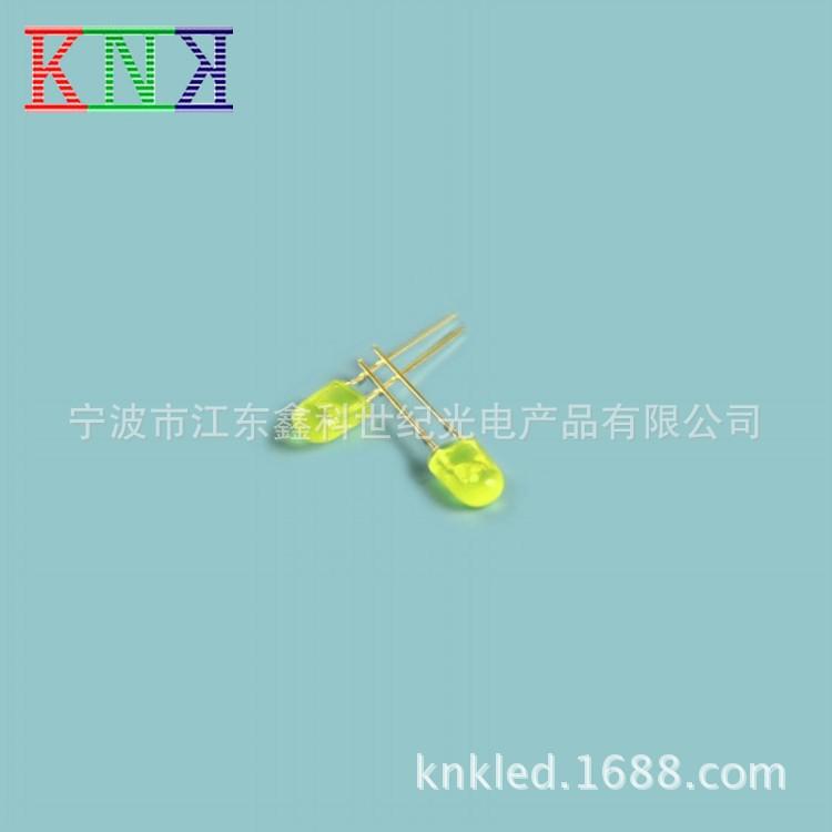 3mm圆头黄色大功率LED发光指示灯 knk 点接触型