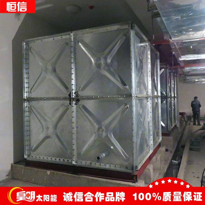 供应出口型热镀锌水箱专业镀锌水箱承压水箱生产厂家