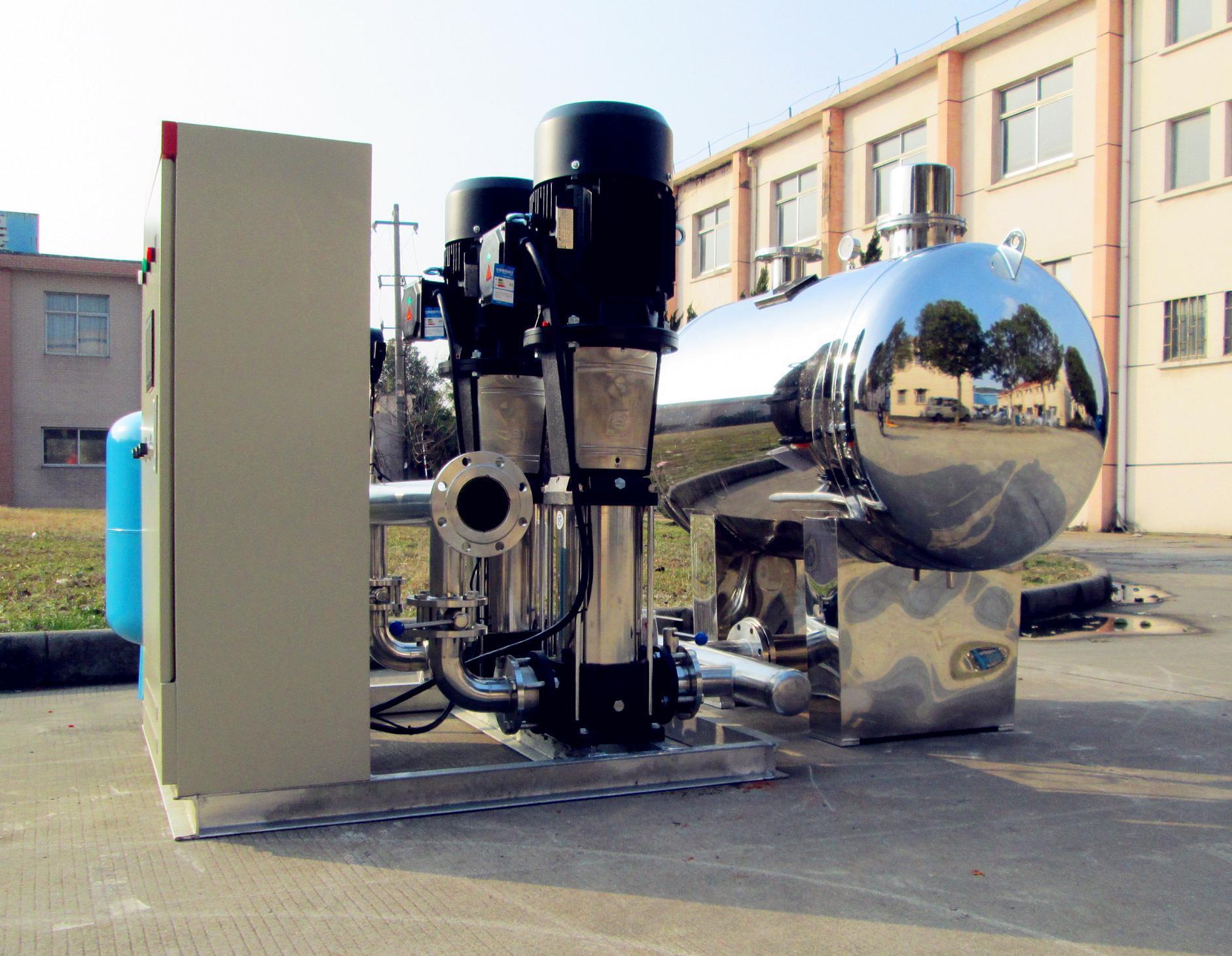 不锈钢双泵一用一备型无负压供水设备 无负压供水设备