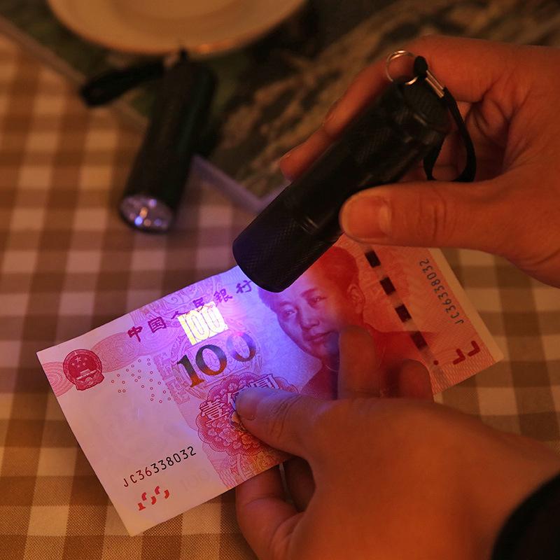 LED荧光剂检测紫光手电筒 LED 验钞手电筒