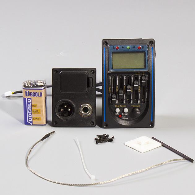 电箱吉他拾音器电箱琴均衡器 拾音器 ABS 音乐乐器 五段EQ拾音器