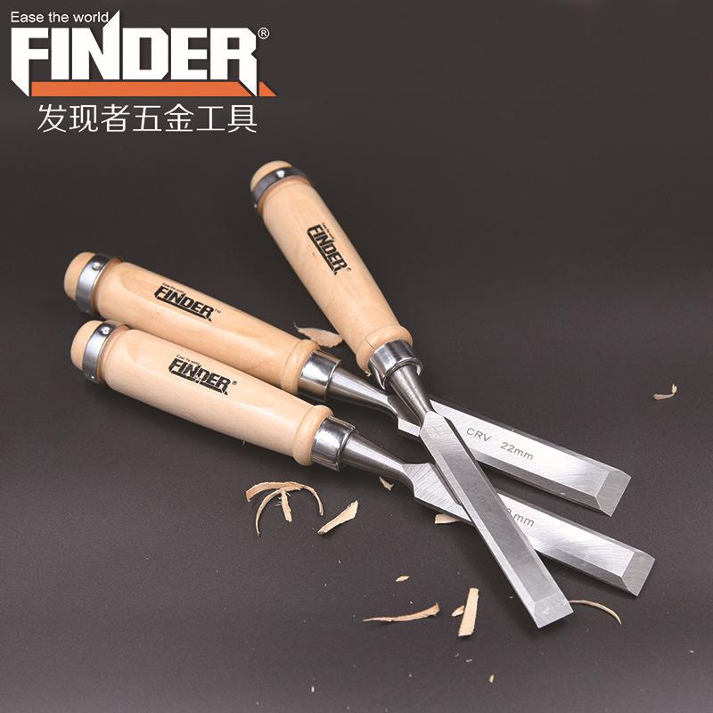 精品手动匠作木工工具铬钒钢凿子 木柄锻打木工凿 厂家批发