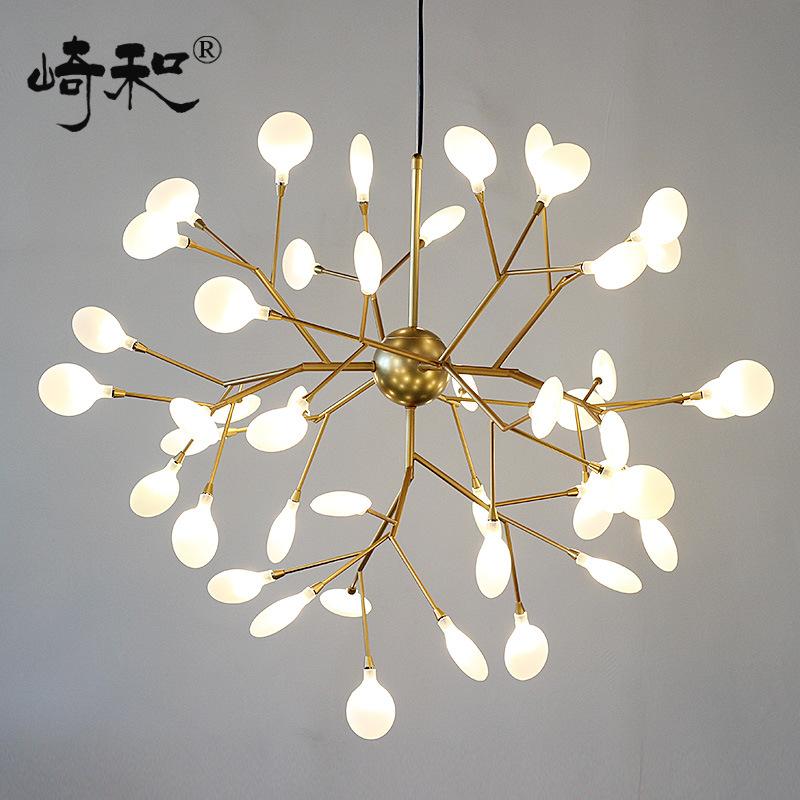 后古代餐厅艺术树枝吊灯北欧共性创意服装店樱花led萤火虫吊灯具