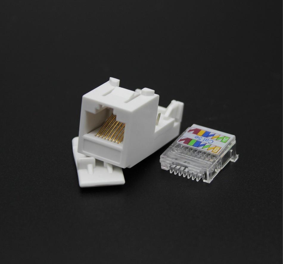 优质TCL款式超五类网络模块 爱讯通 AXT PC塑料镀金磷铜 综合布线