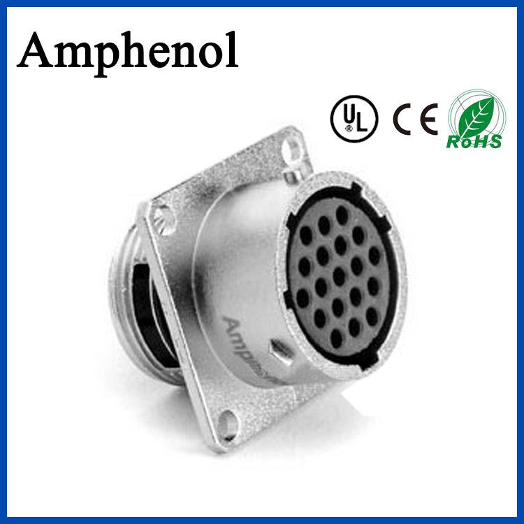圆形防水amphenol航空插头 AMPHENOL/安费诺 插头/插座 铜镀银