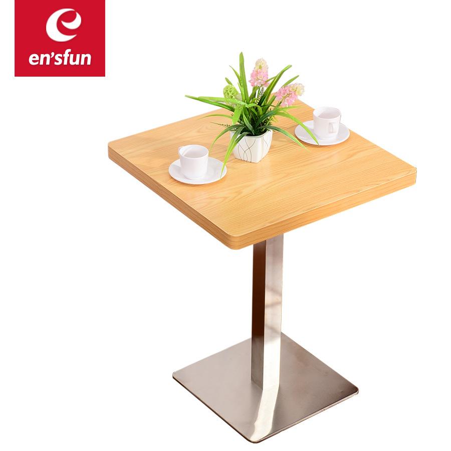小方形奶茶甜品店桌快餐中餐桌实木休闲洽谈桌子