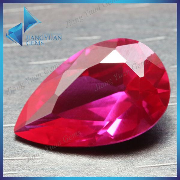 水滴梨形戒面主石镶嵌耐低温 红宝石 诗奇尔 人造宝石 AAAAA