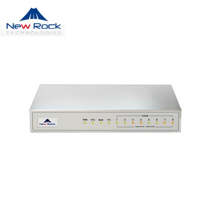 NewRock迅时语音网关MX8A-8S传真VOIP/IP/SIP网络电话FXS接入网关