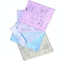 带孔电脑机打票据印刷加工 文教类利博国际娱乐平台印刷 无碳纸