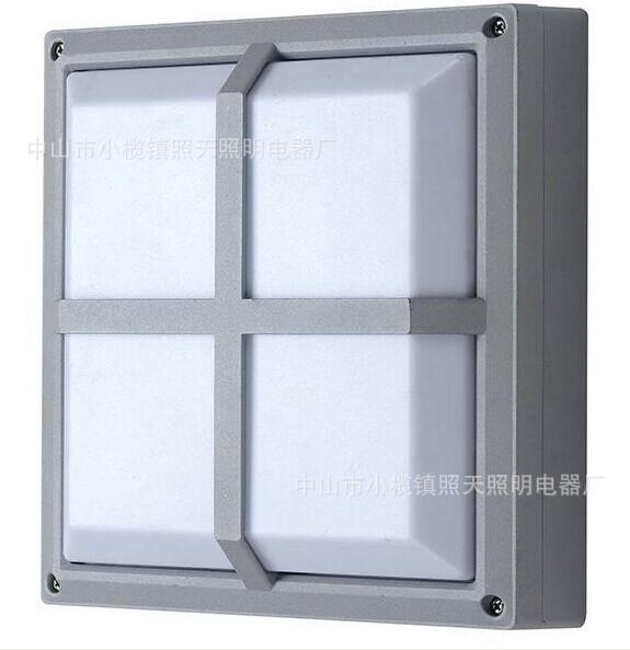 方形奶白罩防潮壁灯12W 香港名丰 led灯