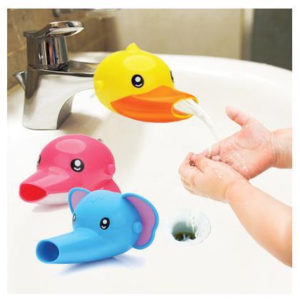 创意卡通儿童洗手引水器 硅胶+ABS