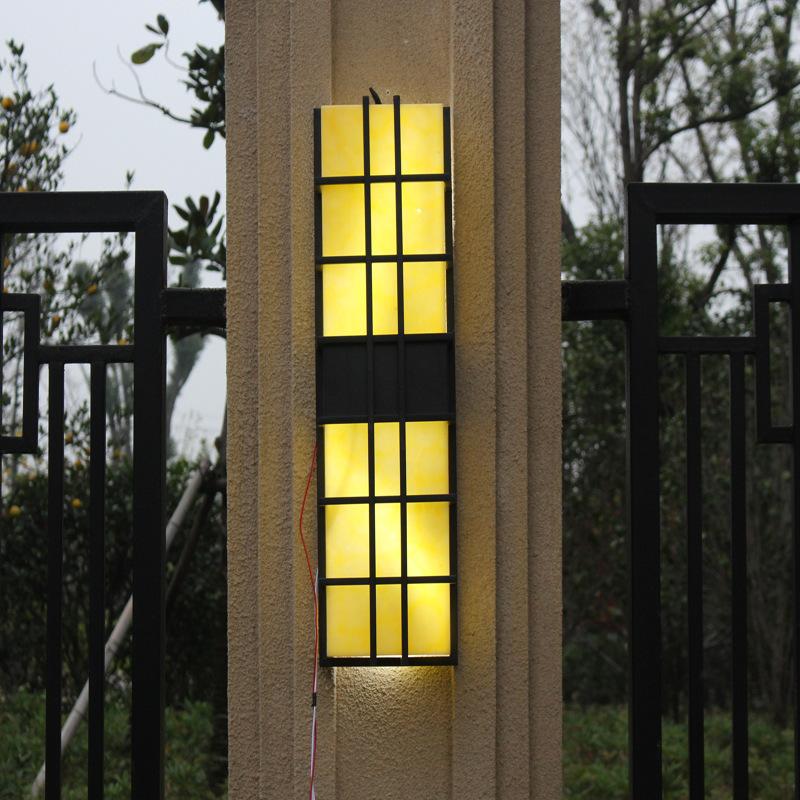 石墙欧式LED户外壁灯加工 led灯 按钮式 电感变压器