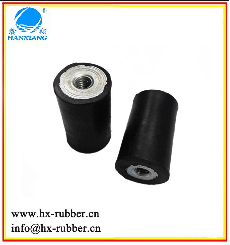 运动器材橡胶缓冲器防震产品 橡胶减震器 AAA级 圆柱形 黑色等多种颜色