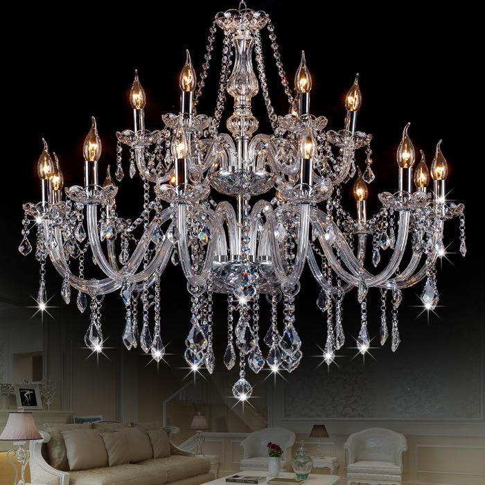 古镇厂家直销水晶吊灯玻璃吊灯别墅大客厅楼梯灯酒店大堂灯蜡烛灯