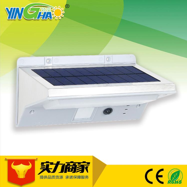 不锈钢太阳能人体感应灯红外感应灯 太阳能庭院灯 LED