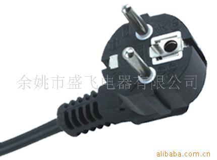 厂家供应欧式烟斗插头 QIAOPU/乔普 VDE 电源连接线 PVC