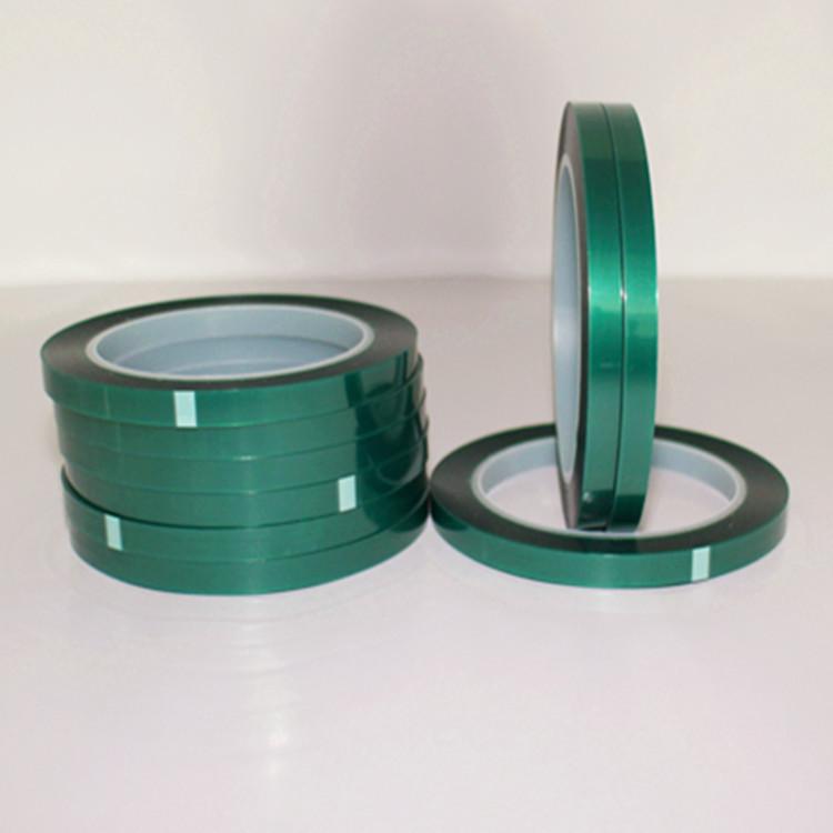 订制高温不残胶绿色胶带喷漆烤漆工业高温绿胶 PET 高温绿色胶带