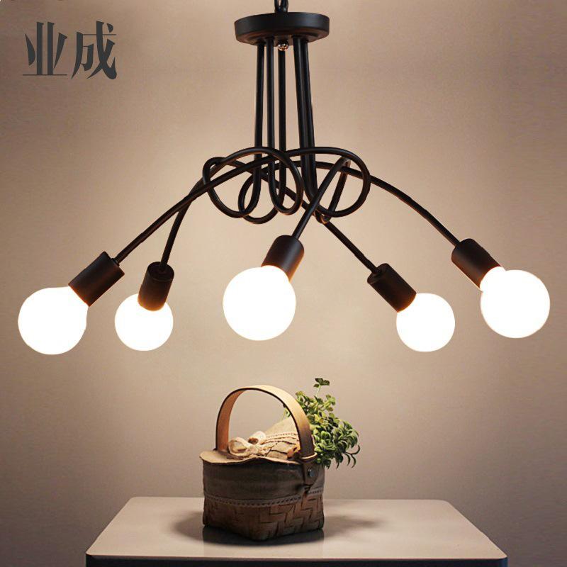 美式现代个性创意简约吸顶灯具客厅北欧餐厅卧室led韩式室内吊灯
