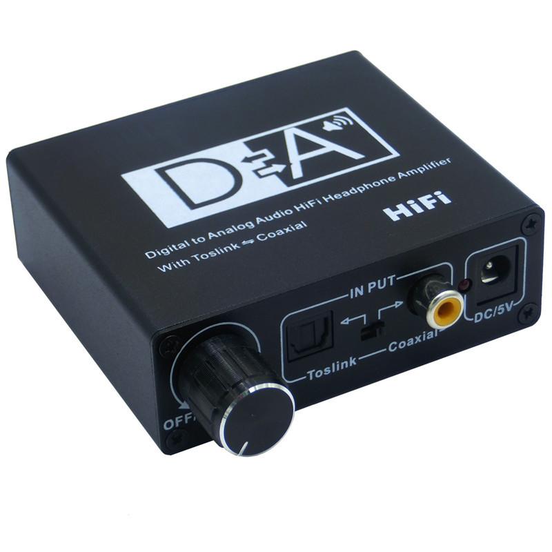厂家直销数字光纤转模拟音频带音量控制同轴转光纤3 EXHONG 切换/分配器