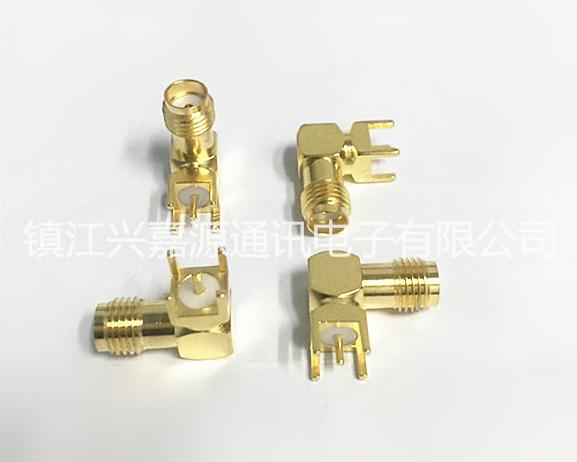 厂家直销全铜镀金SMA-KWE弯母座射频同轴连接器 SMA-KWE SMA