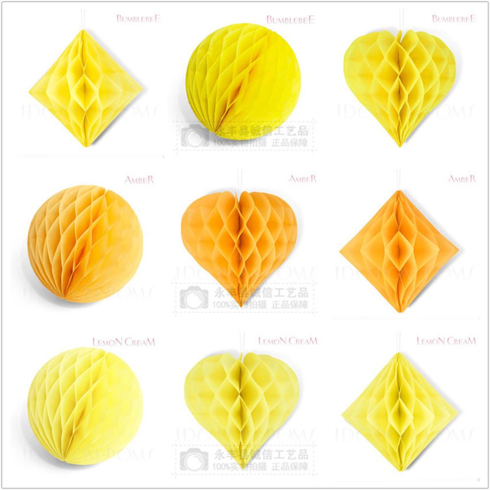 圆形蜂窝套装欧美婚庆派对同色异形纸蜂窝厂家定做 纯手工 几何形状