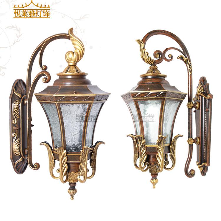 悦莱雅欧式室内外两用铝质仿古壁灯会所别墅玄关高档装饰照明灯具