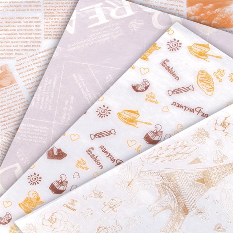 食品防油纸蜡纸28*38汉堡包装纸 纸/纸板 销售包装/终端包装 休闲食品包装