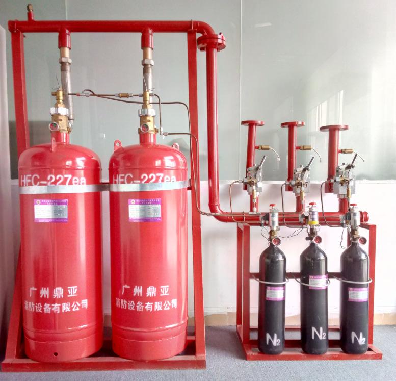 七氟丙烷消防器材灭火器七氟丙烷灭火装置药剂质量保证 气体灭火器