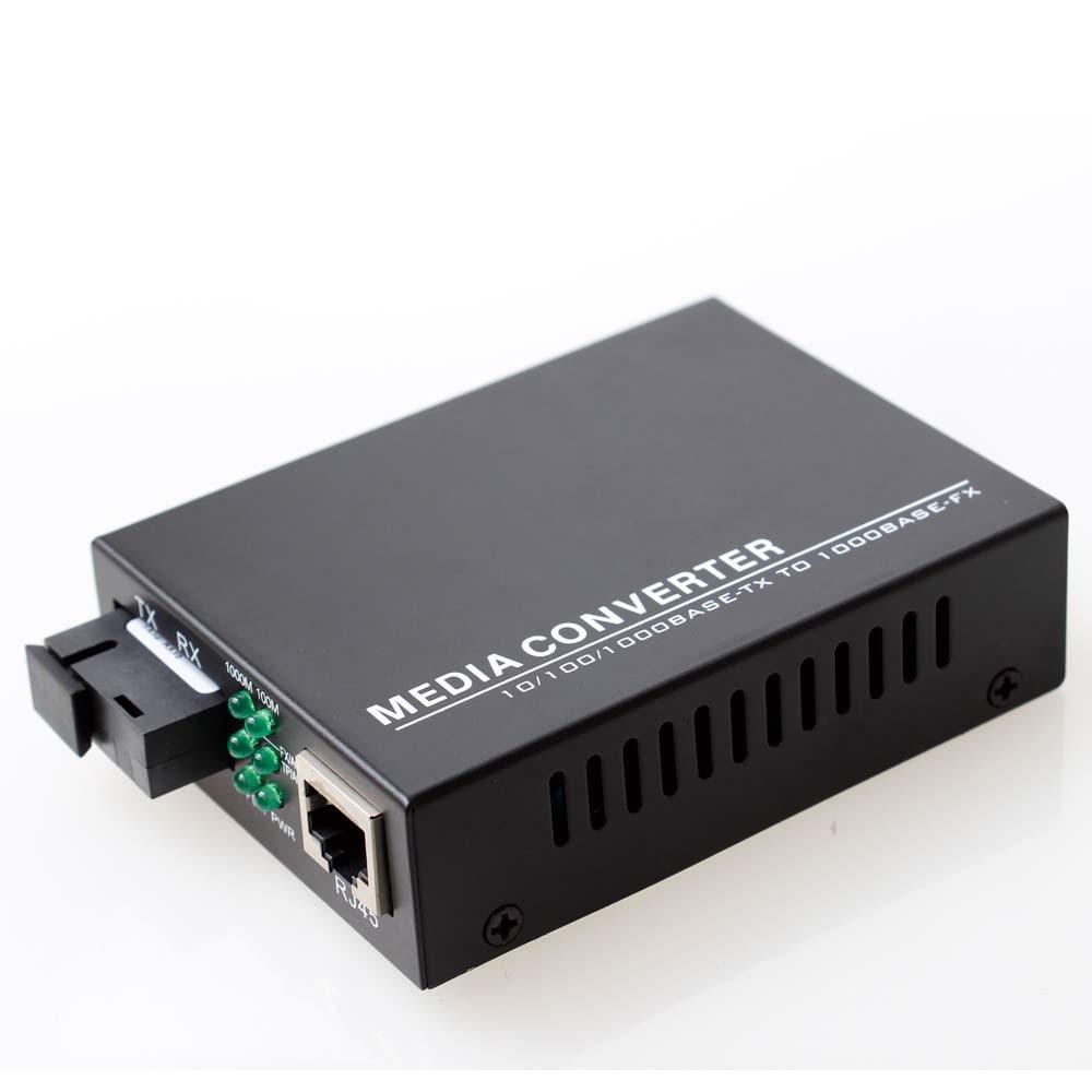10/100/1000M YINET/怡网 单模光纤 存储转发 光纤收发器