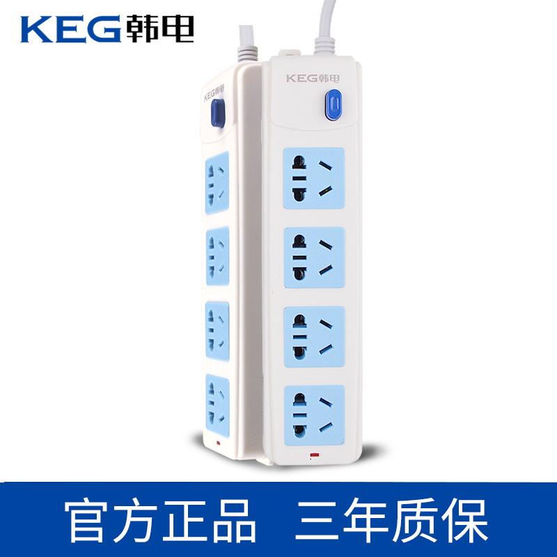 韩电插排电插板插座带线拖线板接线板插线板4插位小五孔HD-1004Z ABS