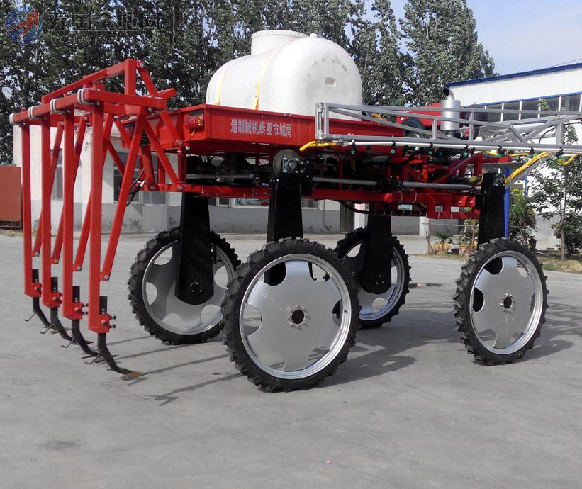 自走式四轮四驱中耕施肥棉花 喷药机 亚泰机械