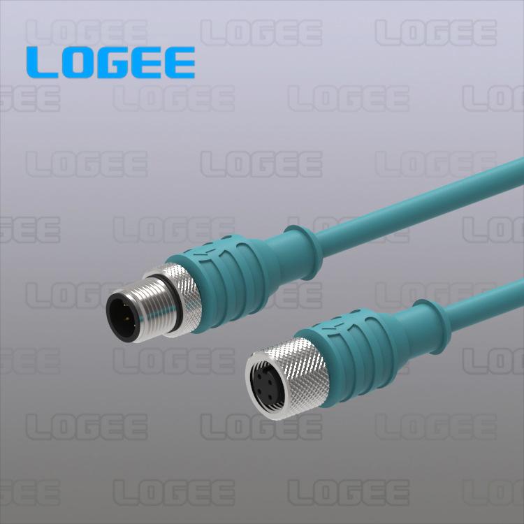 M12传感器连接线缆/M12防水连接线缆 LOGEETECH 镀锡铜线