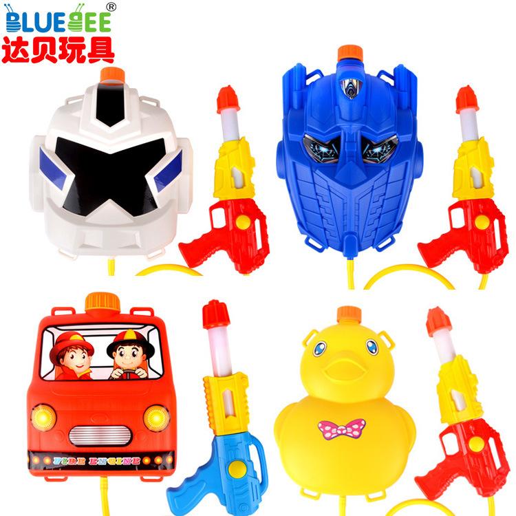 夏季热卖动漫卡通背包水枪多款 塑料/塑胶 背包水枪 BLUEBEE OPP袋