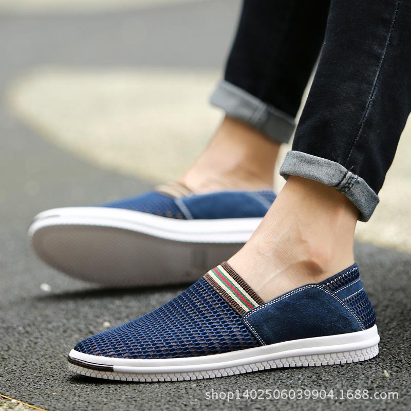 2017冬季网布鞋男鞋透气鞋男士静止休闲鞋韩版 休闲网布鞋