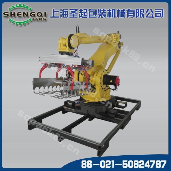 饲料厂机器人码垛 Fanuc 工业机器人 码垛机 码垛搬运 整机保修一年