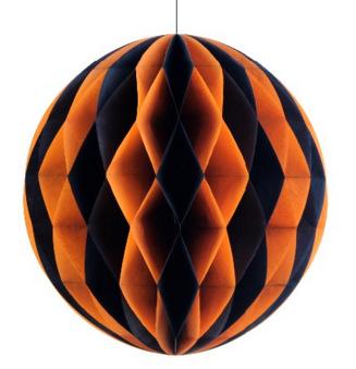 南瓜蜘蛛蝙蝠纸蜂窝 手工制作 几何形状 立体纸雕 纯手工 纸蜂窝