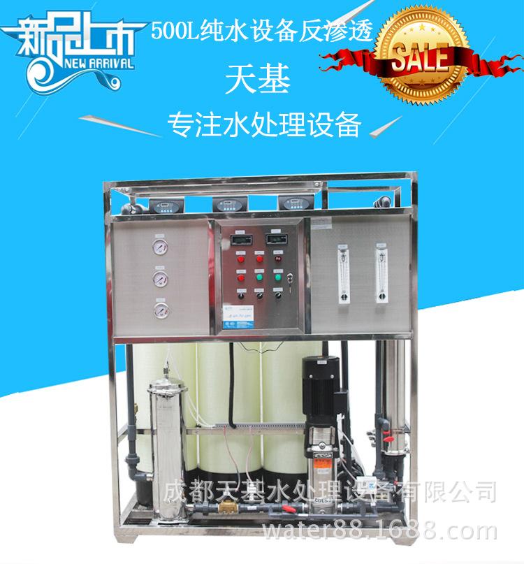 500L反渗透水处理设备