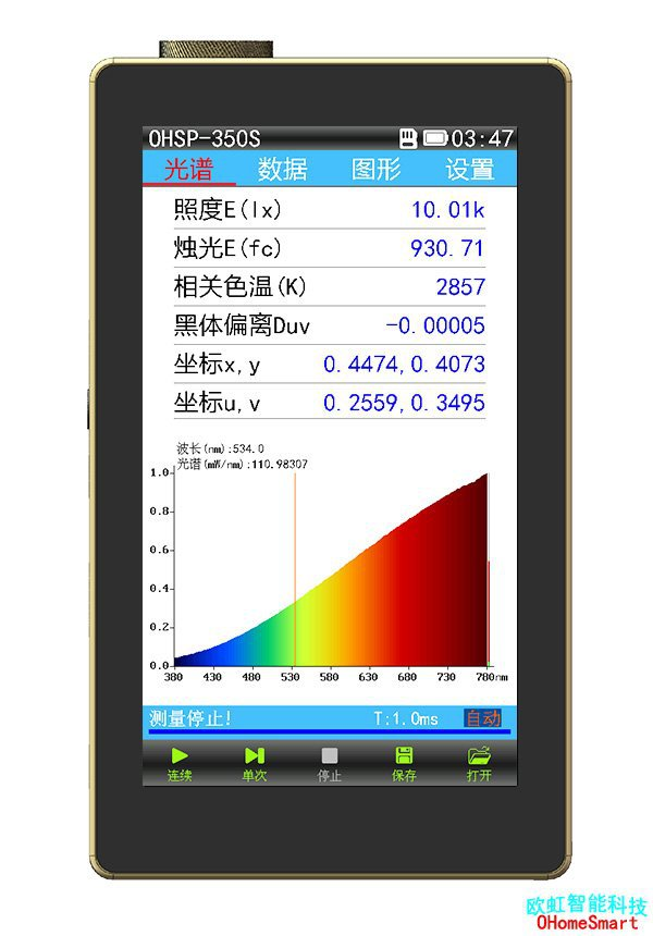 OHSP-350系列手持式LED频闪测试仪色温仪 欧虹智能