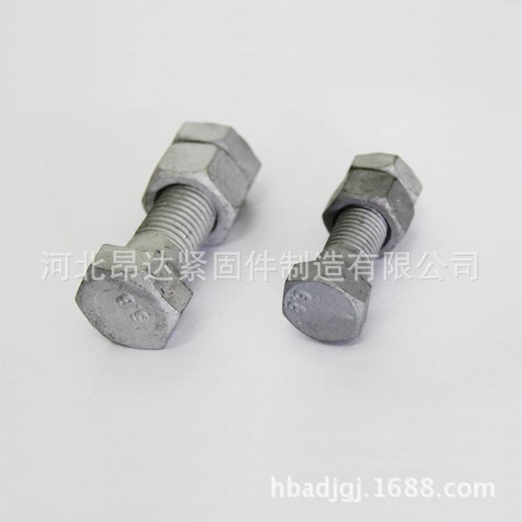 永年紧固件厂家热销 热镀锌外六角螺栓 热侵锌螺丝 电力螺栓