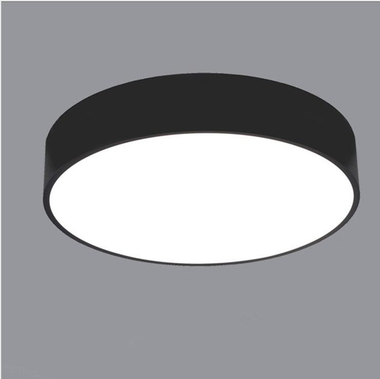 LED吸顶灯卧室灯圆形客厅灯古代简洁创意彩色铝材书房办公室灯具
