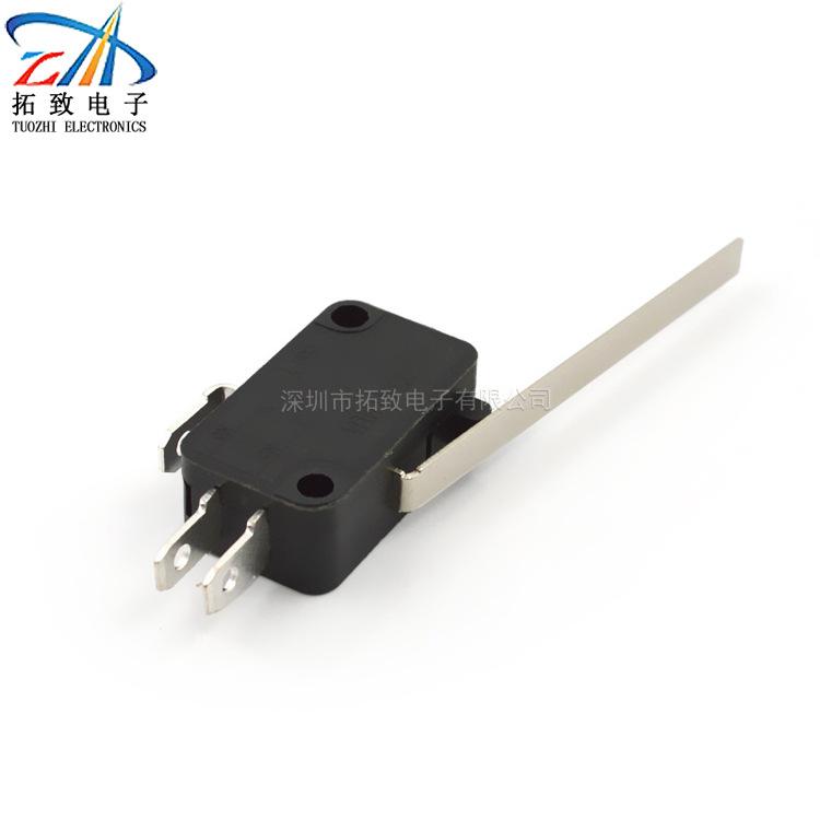 专业生产微动开关长柄特殊款TZ029柄长52mm柄长可定制 普通型 直流型
