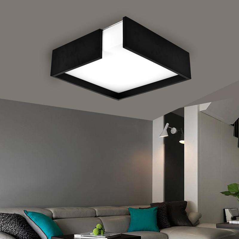 零售北欧简洁吸顶灯led客厅灯创意亚克力卧室灯正方形调光房间灯